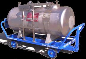 Outillage : Cuve de récupération carburant sous avions