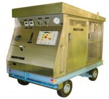 Banc mobile de remplissage carburant pour l'aeronautique