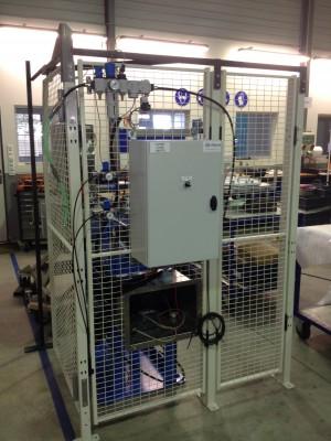 Module de nettoyage de moules d'injection PU, réalisé par Sud Projet